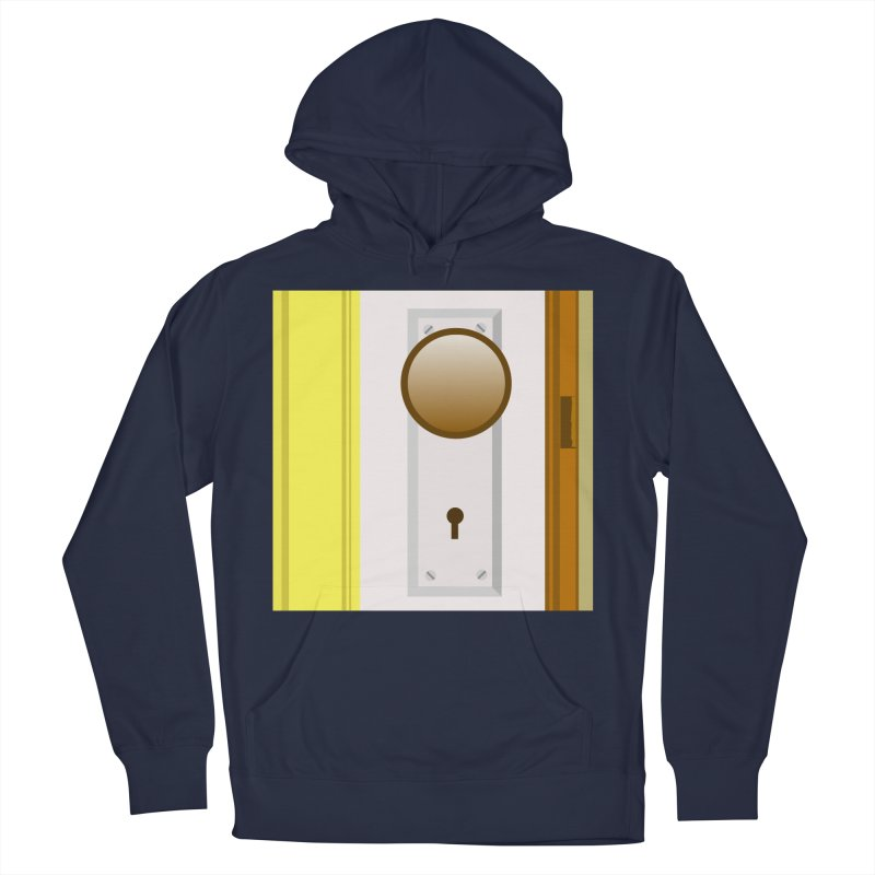 knock, knock. Men's French Terry Pullover Hoody by pictrola graphics