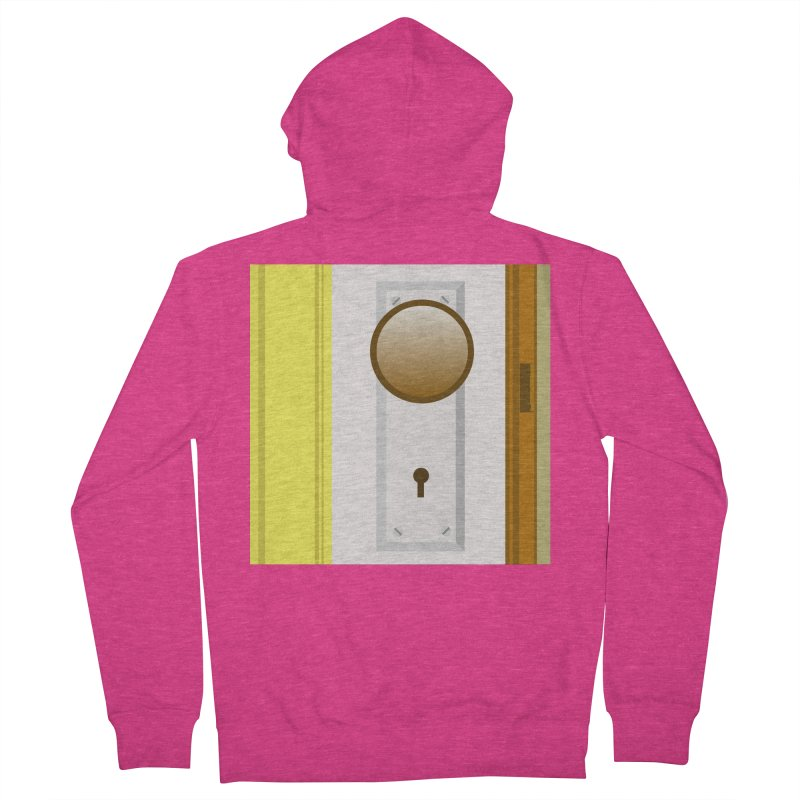 knock, knock. Women's French Terry Zip-Up Hoody by pictrola graphics