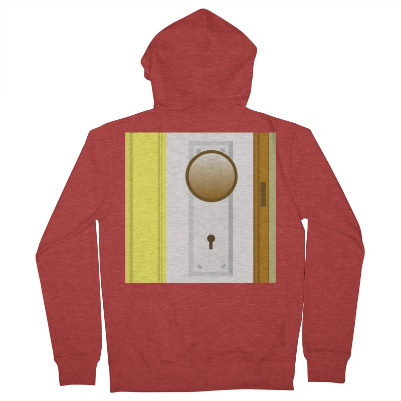 knock, knock. Men's French Terry Zip-Up Hoody by pictrola graphics