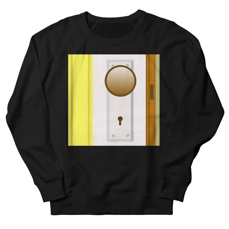 knock, knock. Men's French Terry Sweatshirt by pictrola graphics