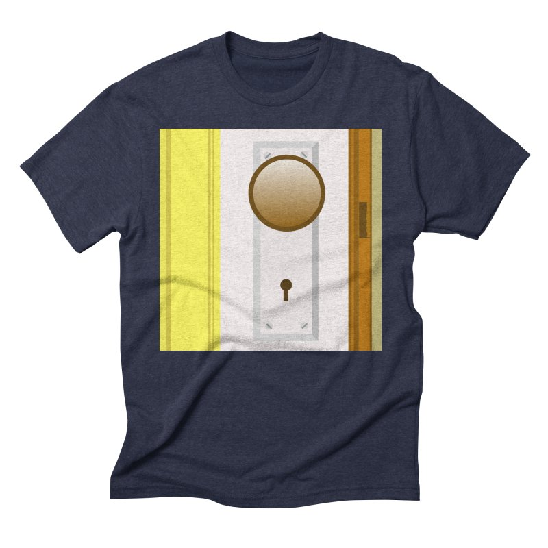 knock, knock. Men's Triblend T-Shirt by pictrola graphics