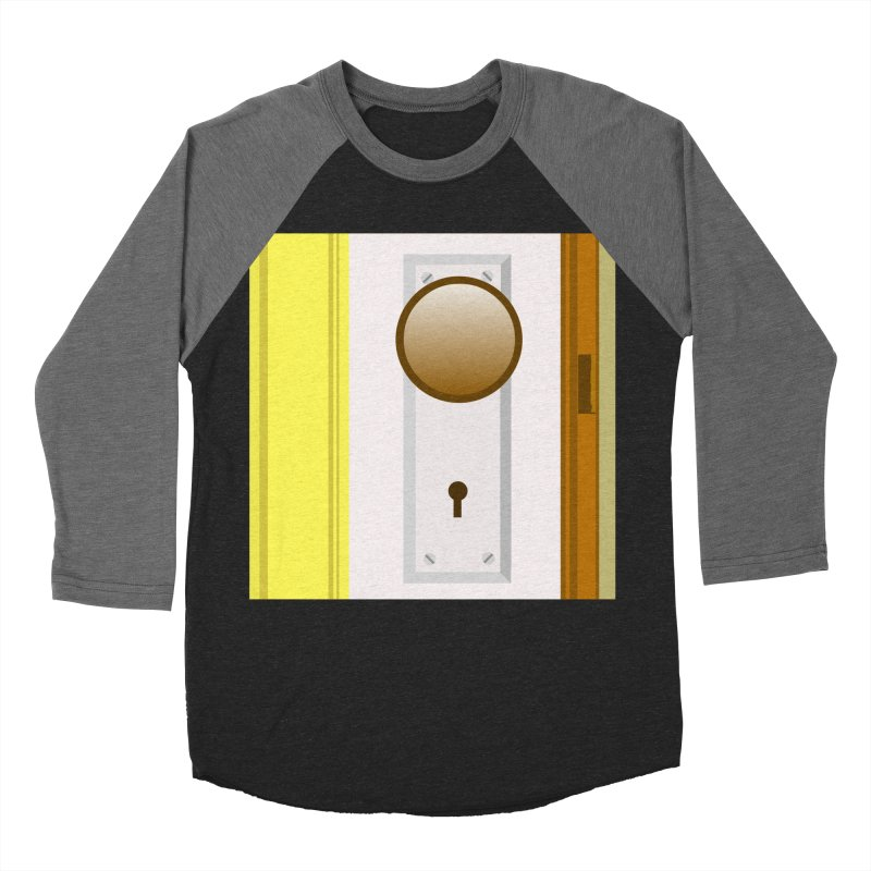 knock, knock. Women's Baseball Triblend Longsleeve T-Shirt by pictrola graphics