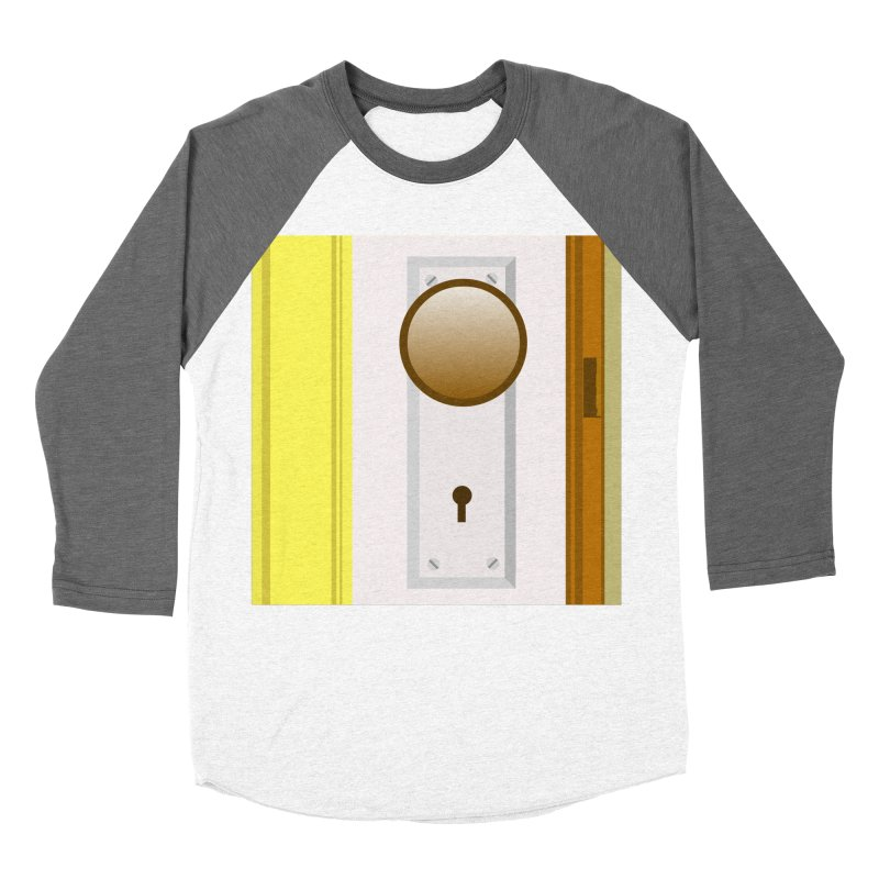 knock, knock. Men's Baseball Triblend Longsleeve T-Shirt by pictrola graphics