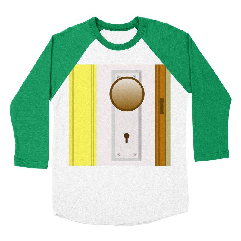 knock, knock. Men's Baseball Triblend Longsleeve T-Shirt by pictrola graphics