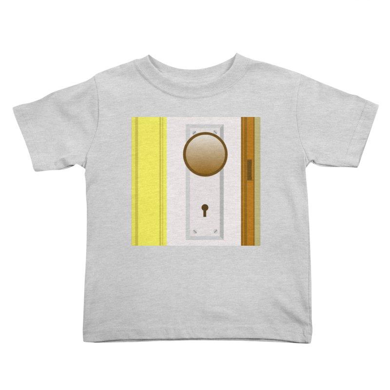 knock, knock. Kids Toddler T-Shirt by pictrola graphics