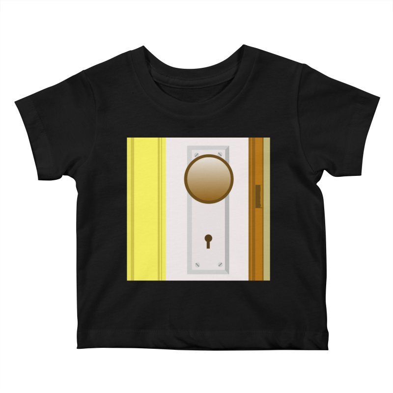 knock, knock. Kids Baby T-Shirt by pictrola graphics