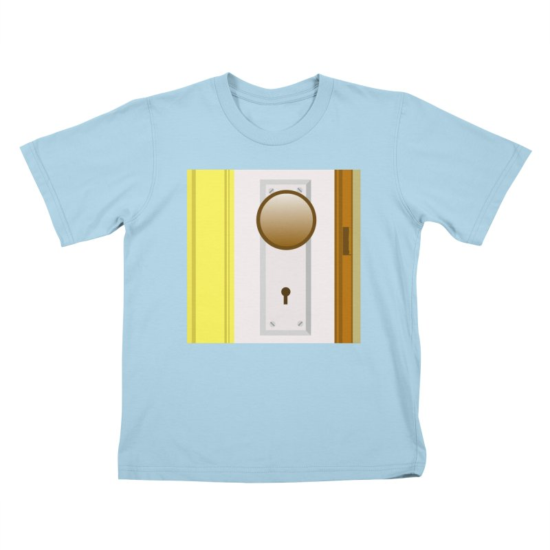 knock, knock. Kids T-Shirt by pictrola graphics