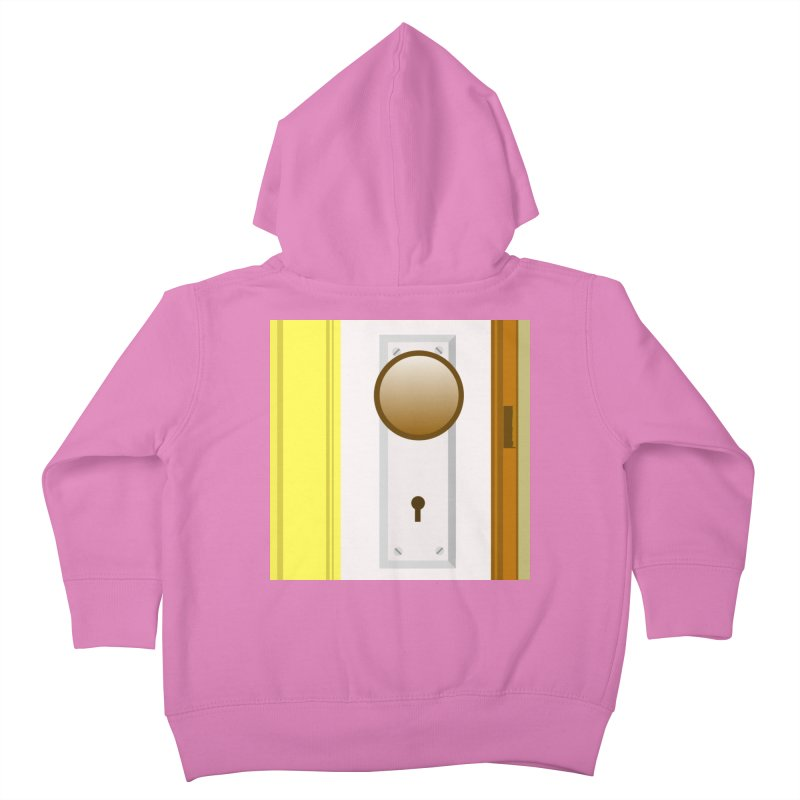 knock, knock. Kids Toddler Zip-Up Hoody by pictrola graphics