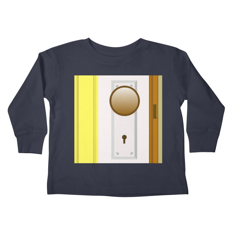 knock, knock. Kids Toddler Longsleeve T-Shirt by pictrola graphics