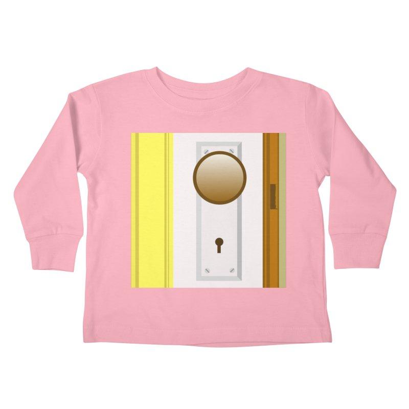 knock, knock. Kids Toddler Longsleeve T-Shirt by pictrola graphics