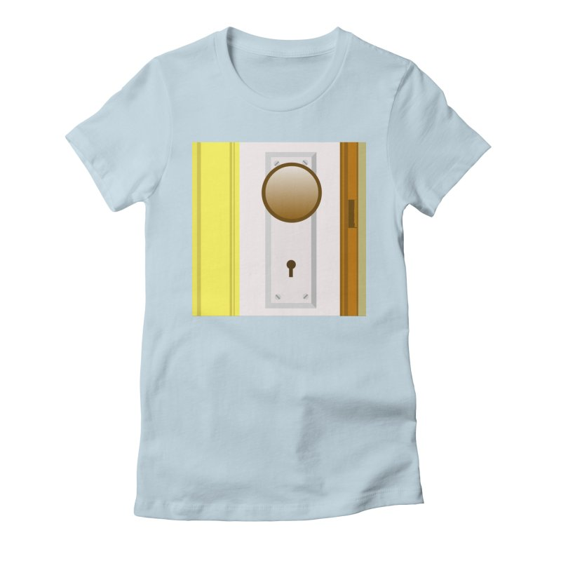 knock, knock. Women's Fitted T-Shirt by pictrola graphics