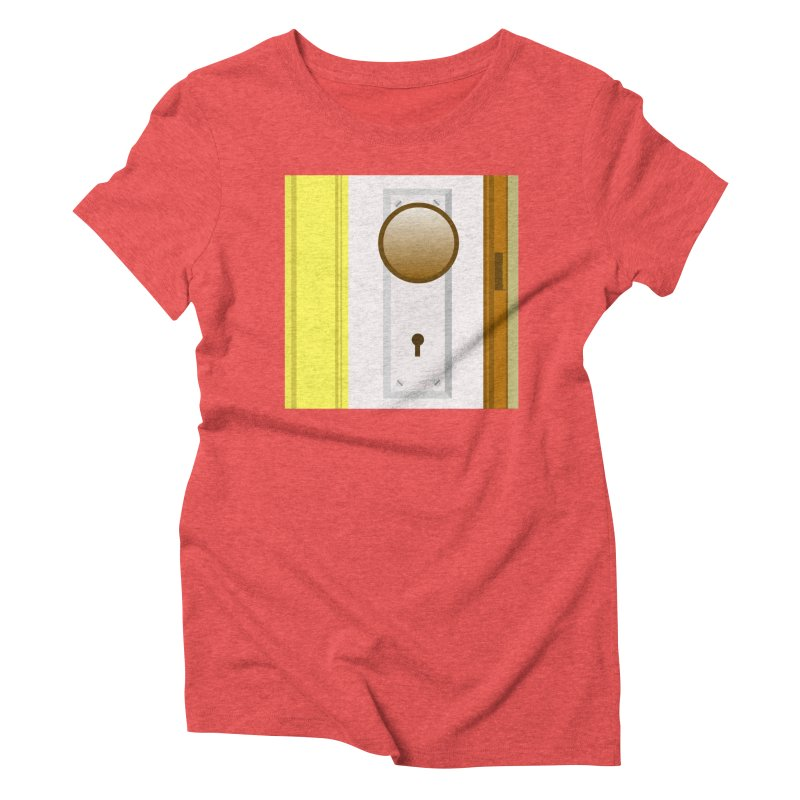 knock, knock. Women's Triblend T-Shirt by pictrola graphics