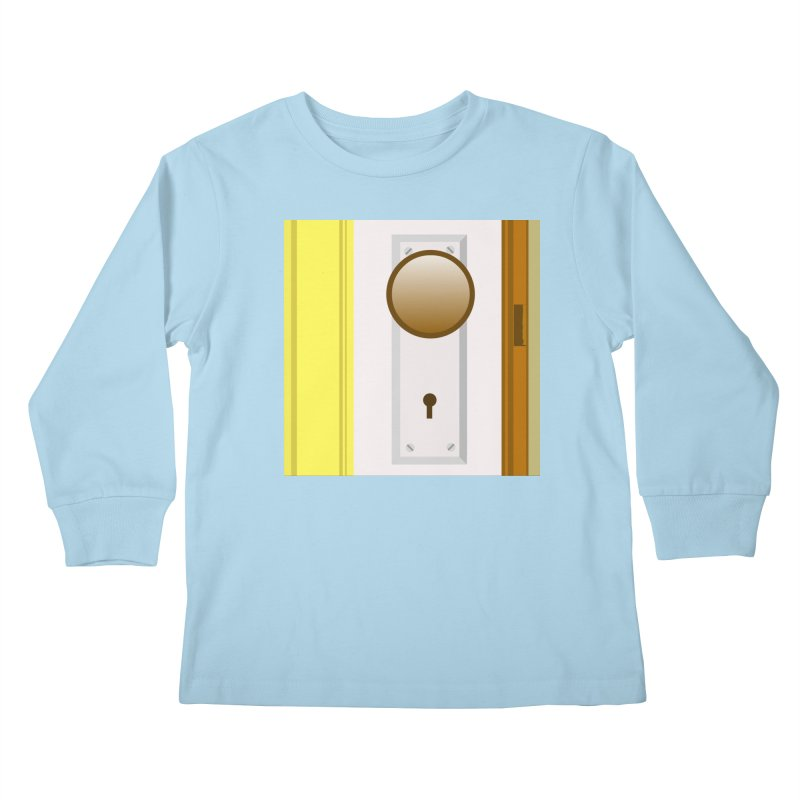 knock, knock. Kids Longsleeve T-Shirt by pictrola graphics