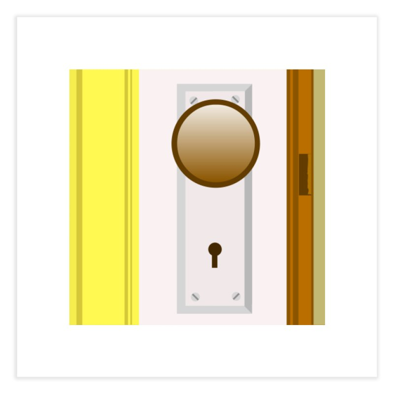 knock, knock. Home Fine Art Print by pictrola graphics