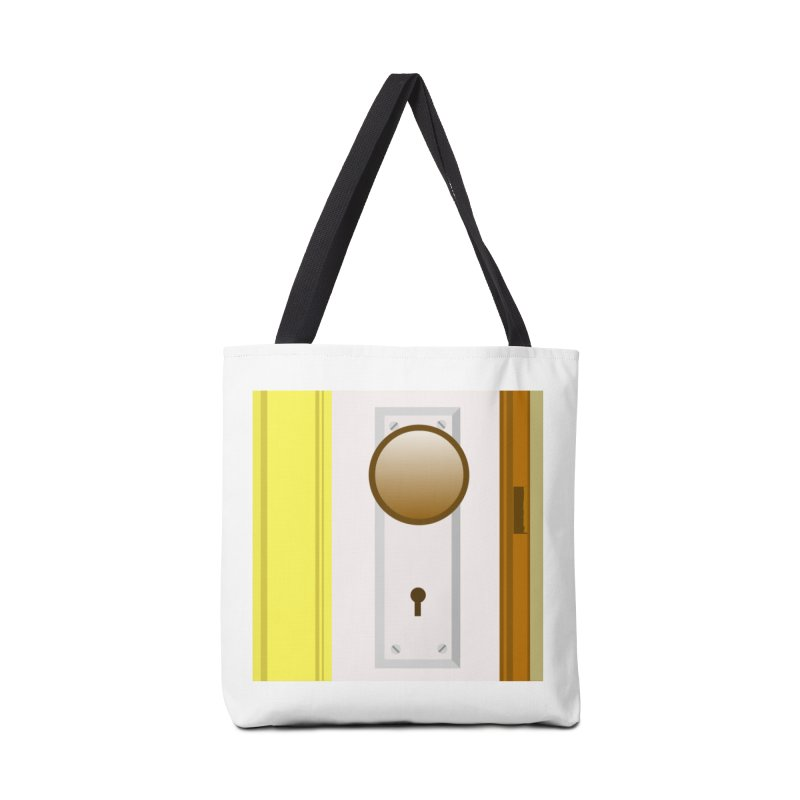 knock, knock. Accessories Tote Bag Bag by pictrola graphics