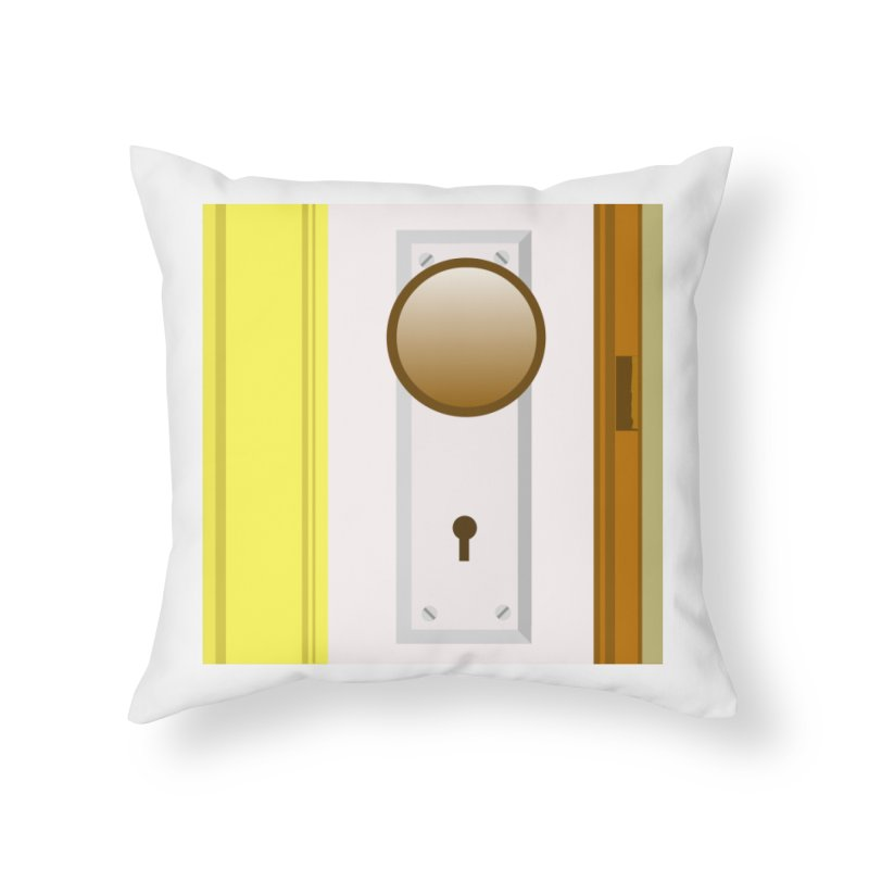 knock, knock. Home Throw Pillow by pictrola graphics