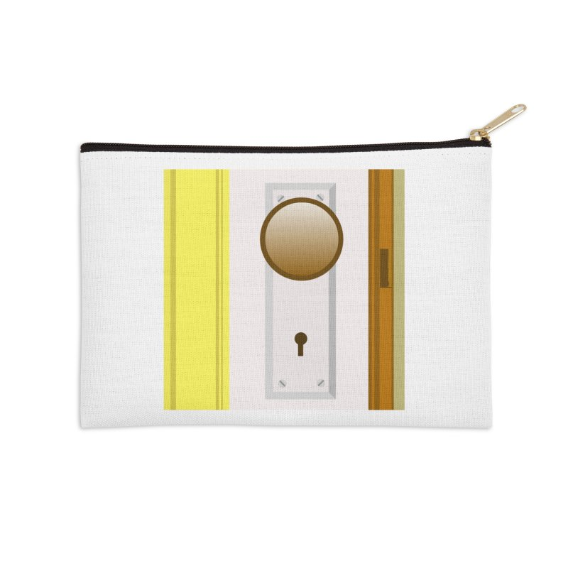 knock, knock. Accessories Zip Pouch by pictrola graphics