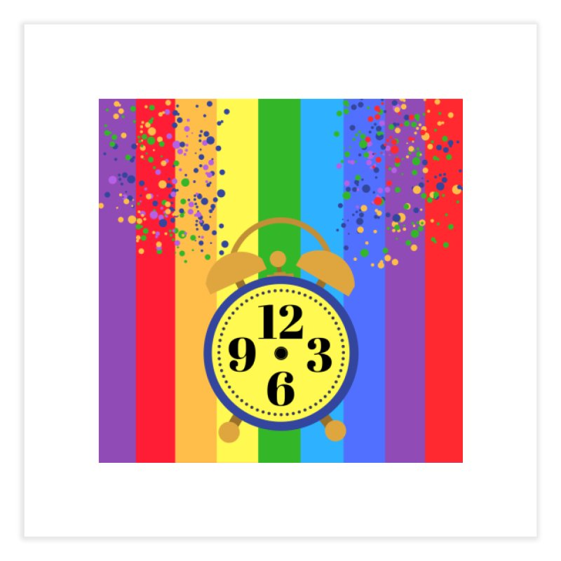 party all the time. Home Fine Art Print by pictrola graphics