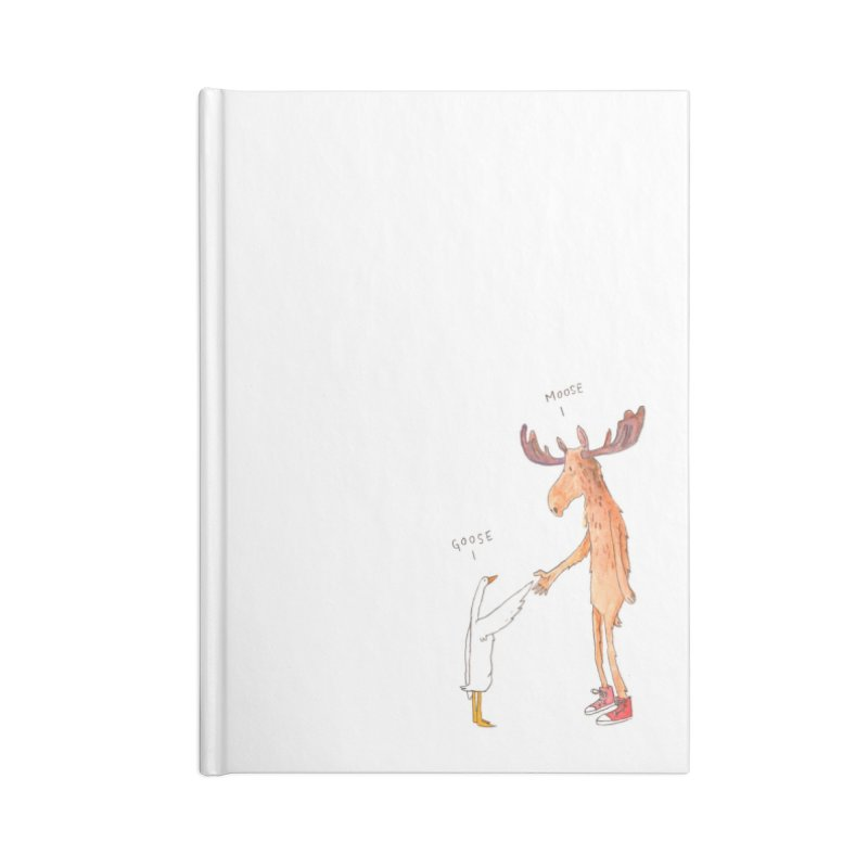Goose Moose Accessories Notebook by pieceofka's Artist Shop