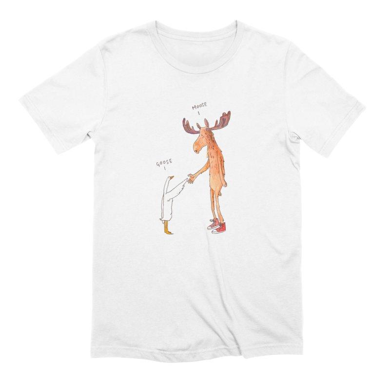 Goose Moose Men's T-Shirt by pieceofka's Artist Shop