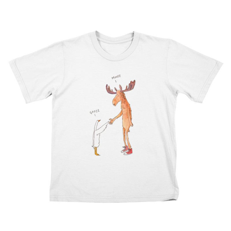 Goose Moose Kids T-Shirt by pieceofka's Artist Shop