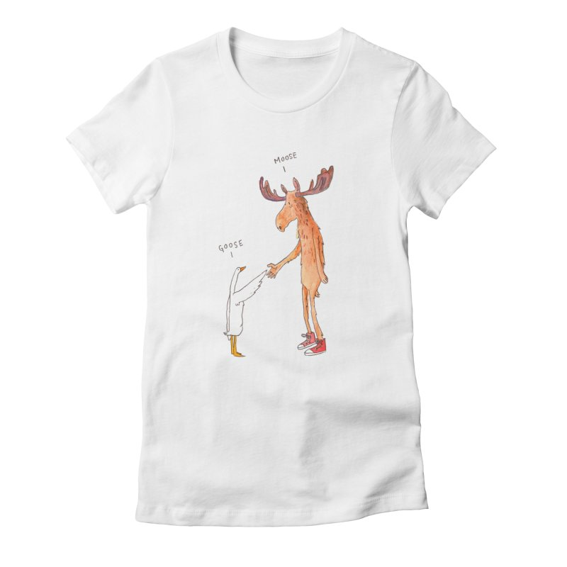 Goose Moose Women's T-Shirt by pieceofka's Artist Shop