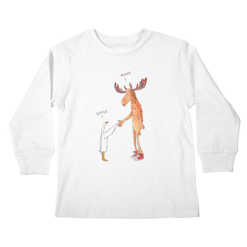 Goose Moose Kids Longsleeve T-Shirt by pieceofka's Artist Shop