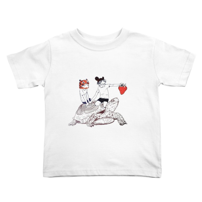 Strawberry Kids Toddler T-Shirt by pieceofka's Artist Shop