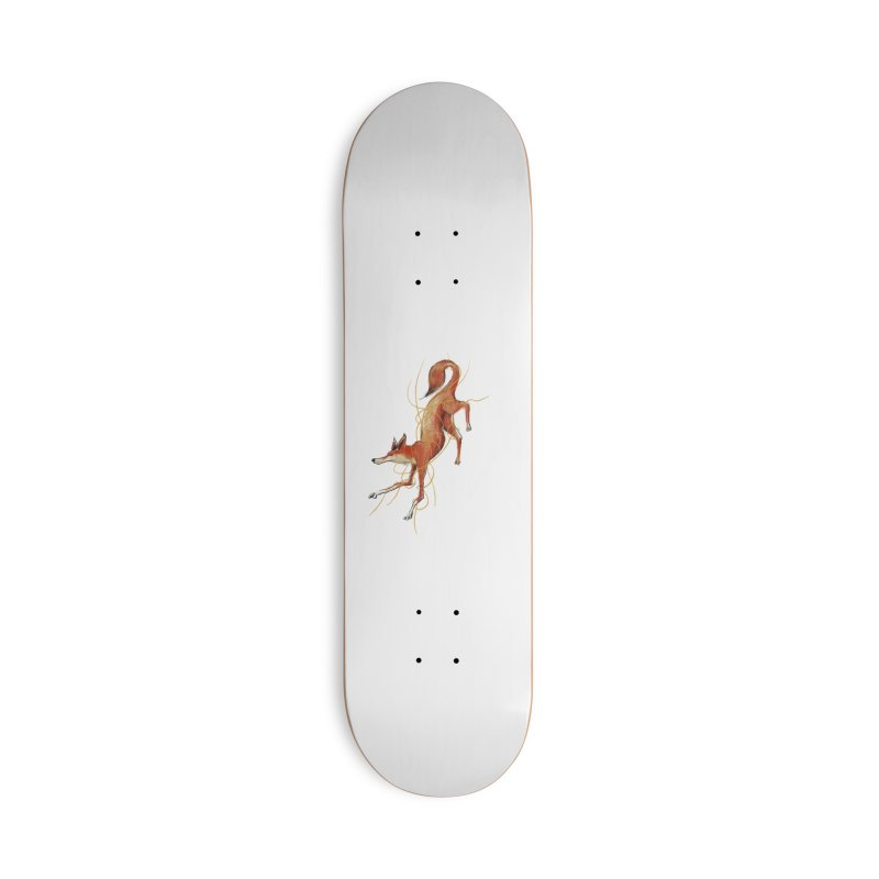 Tangled Fox Accessories Skateboard by pieceofka's Artist Shop