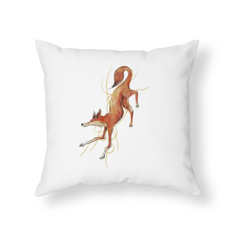Tangled Fox Home Throw Pillow by pieceofka's Artist Shop