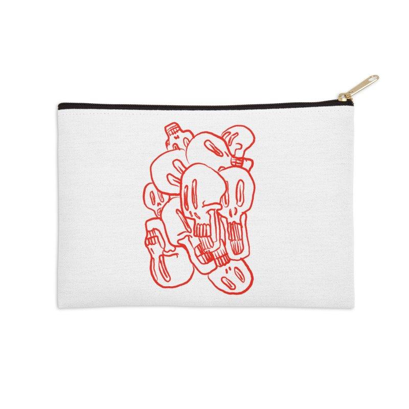 Skullz Accessories Zip Pouch by pieceofka's Artist Shop