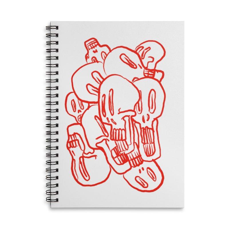 Skullz Accessories Notebook by pieceofka's Artist Shop