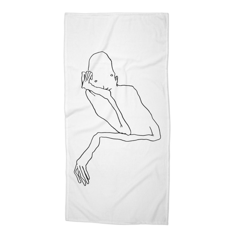 Hold on I'm thinking Accessories Beach Towel by pieceofka's Artist Shop