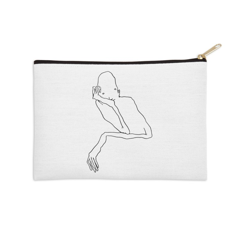 Hold on I'm thinking Accessories Zip Pouch by pieceofka's Artist Shop