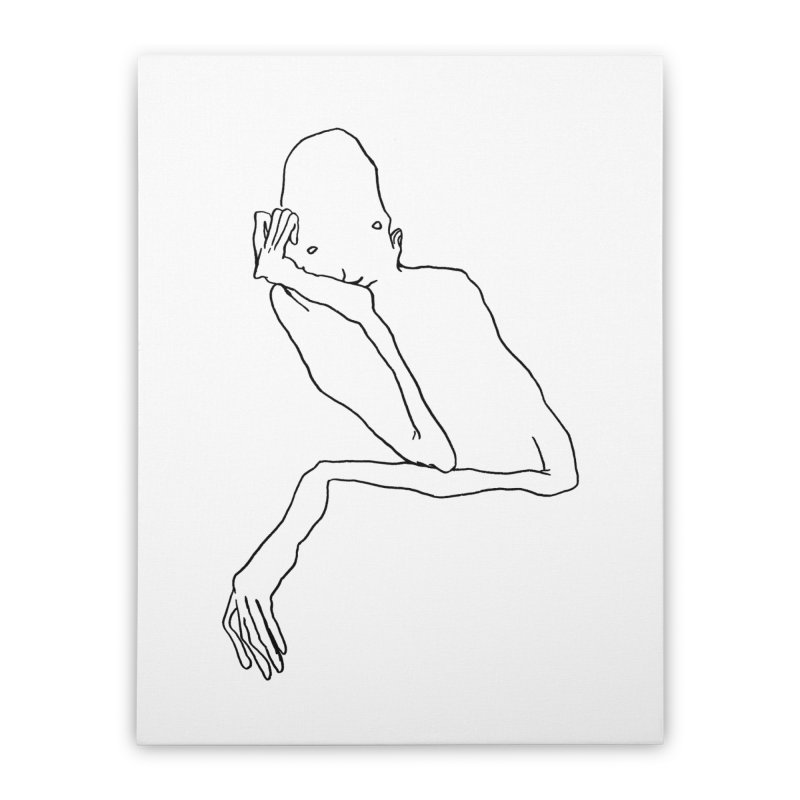 Hold on I'm thinking Home Stretched Canvas by pieceofka's Artist Shop