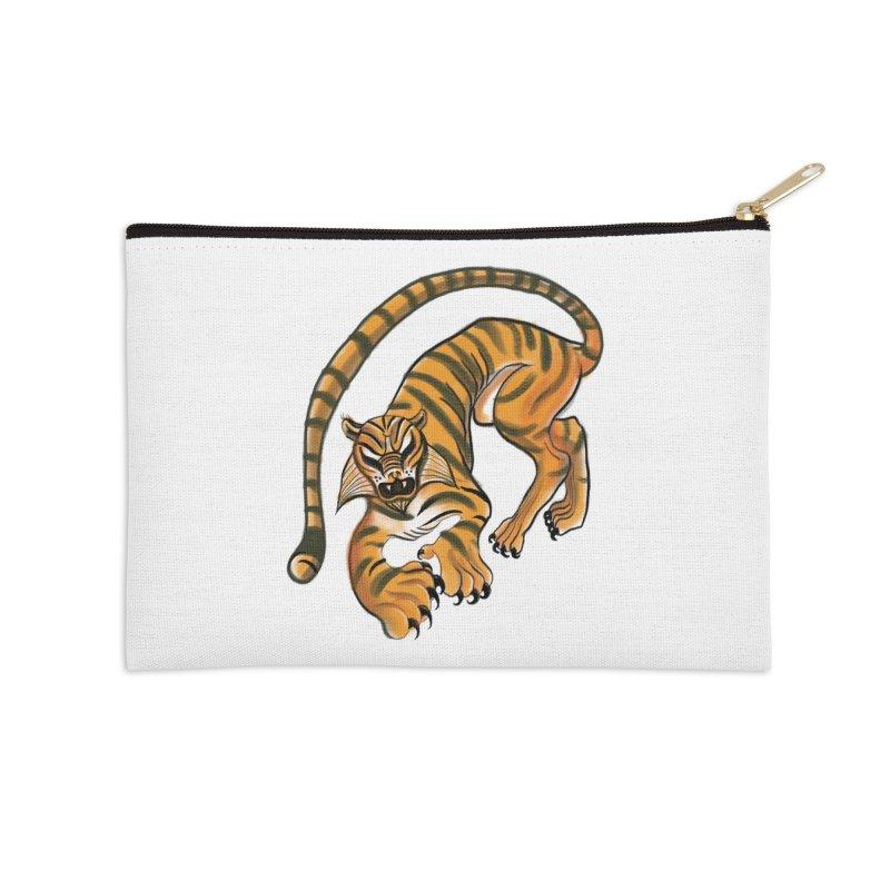 Tiger Accessories Zip Pouch by pieceofka's Artist Shop