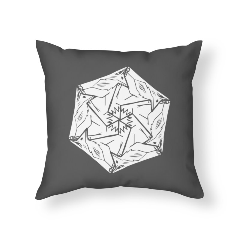 Lots of Fox Home Throw Pillow by pieceofka's Artist Shop