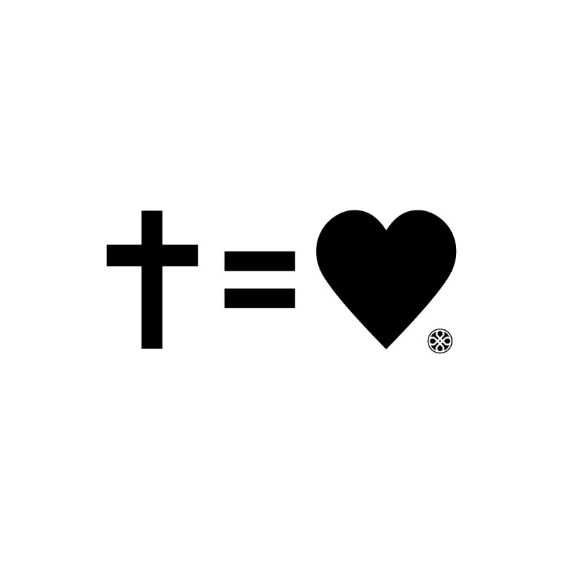 Cross Equals Love - Black by Piedmont Chapel