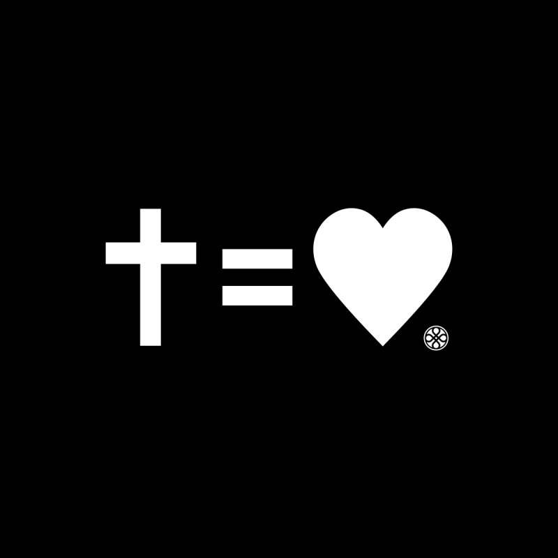 Cross Equals Love - White by Piedmont Chapel
