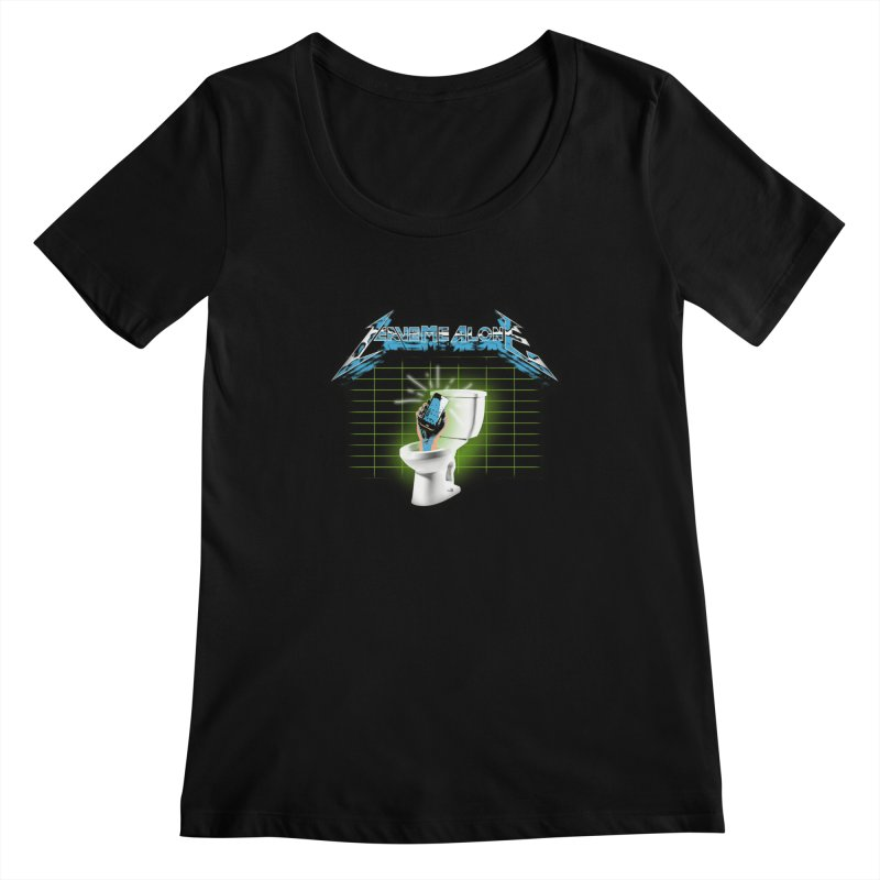 Leave Me Alone Women's Scoopneck by pierrebarbeyto's Artist Shop