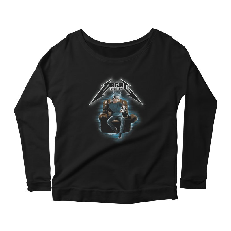Virtual Reality Women's Longsleeve Scoopneck  by pierrebarbeyto's Artist Shop