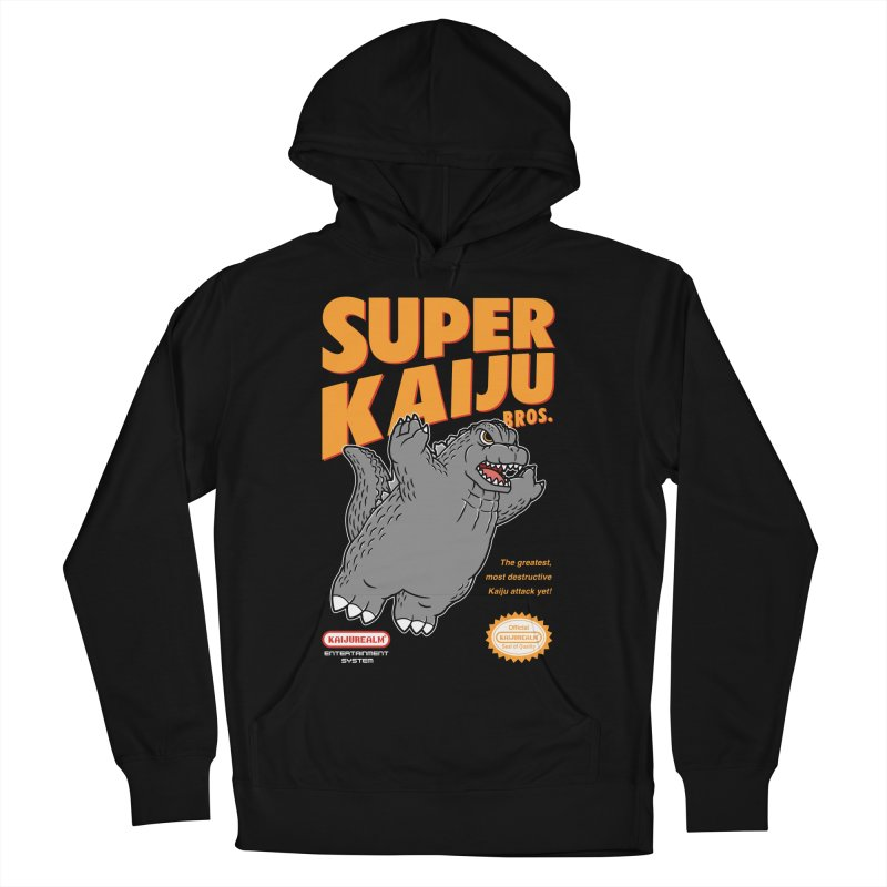 Super Kaiju Bros. Men's French Terry Pullover Hoody by Pigboom's Artist Shop