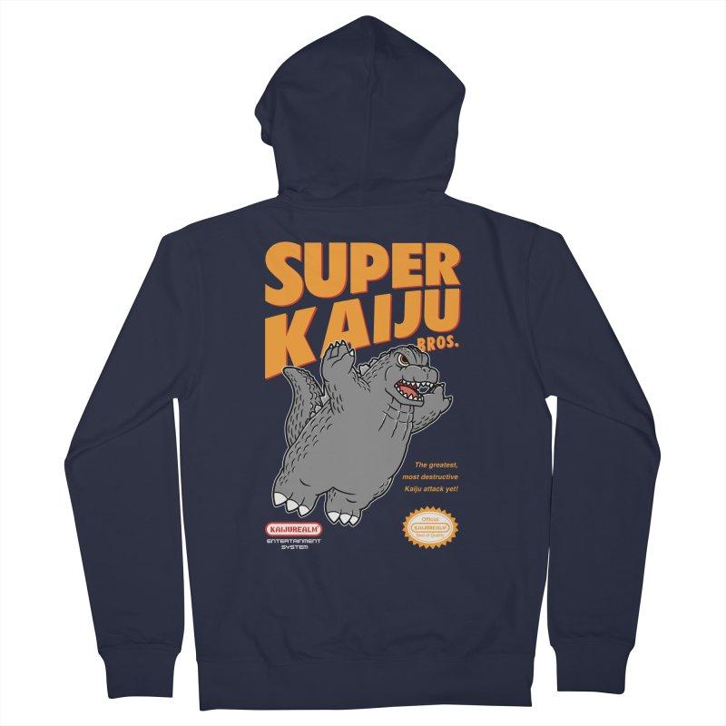 Super Kaiju Bros. Men's French Terry Zip-Up Hoody by Pigboom's Artist Shop
