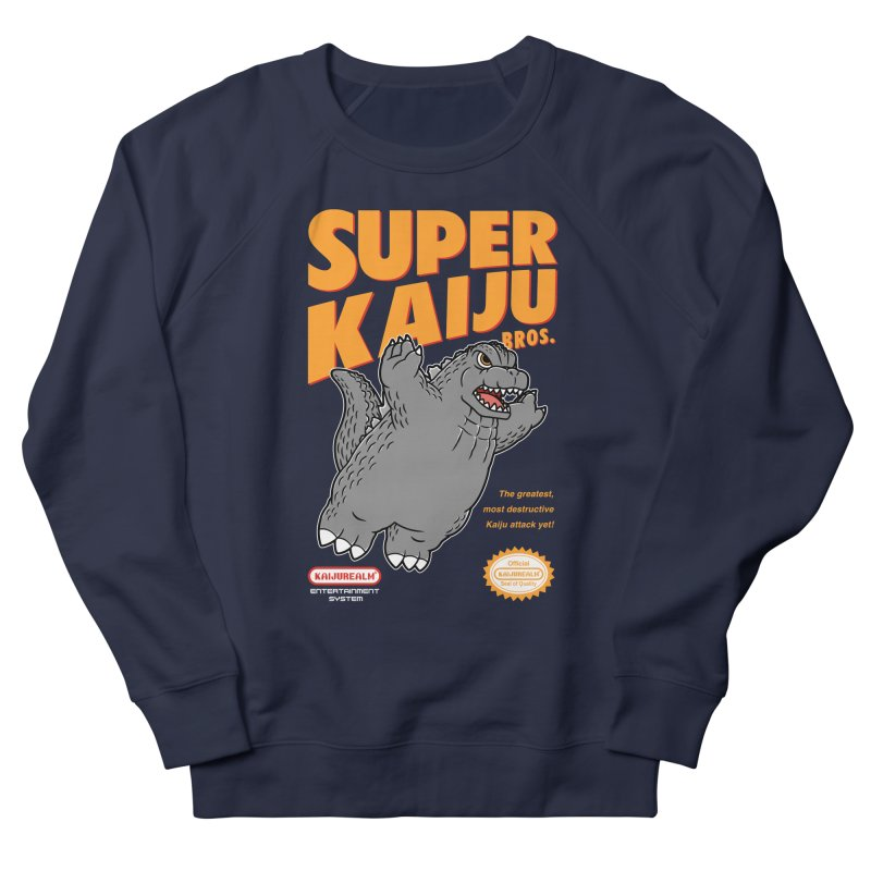Super Kaiju Bros. Men's French Terry Sweatshirt by Pigboom's Artist Shop