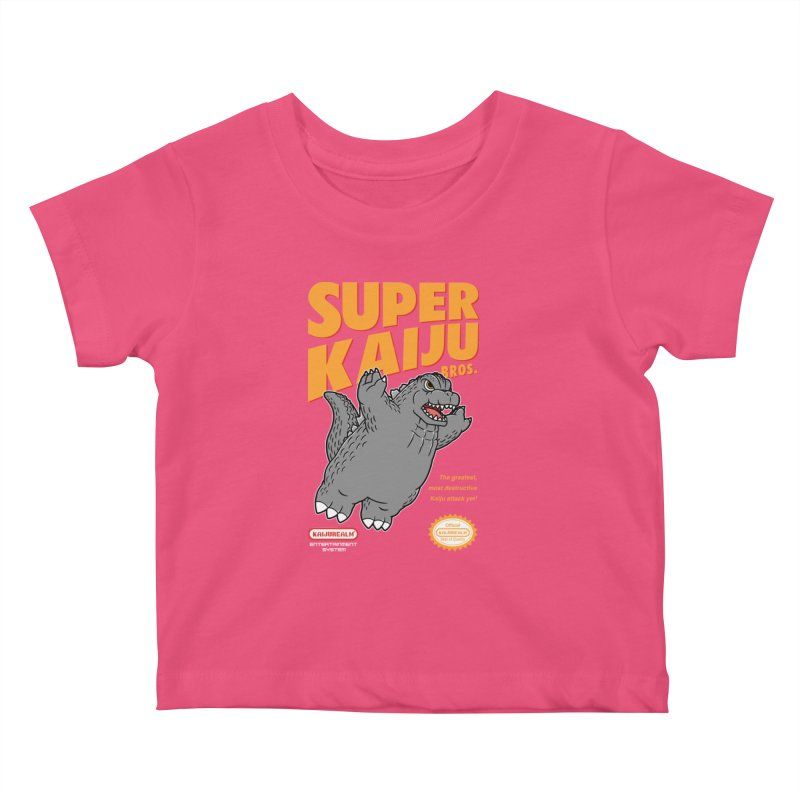 Super Kaiju Bros. Kids Baby T-Shirt by Pigboom's Artist Shop