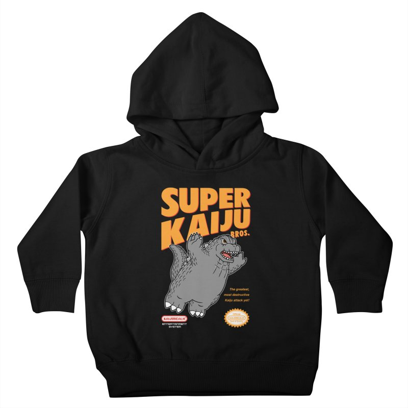 Super Kaiju Bros. Kids Toddler Pullover Hoody by Pigboom's Artist Shop