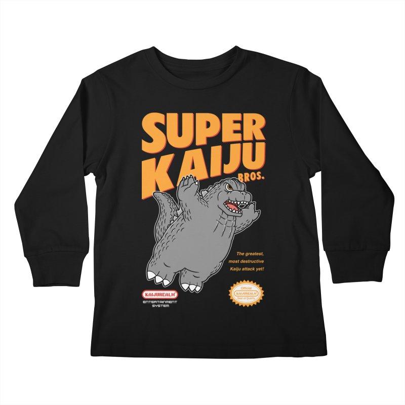 Super Kaiju Bros. Kids Longsleeve T-Shirt by Pigboom's Artist Shop