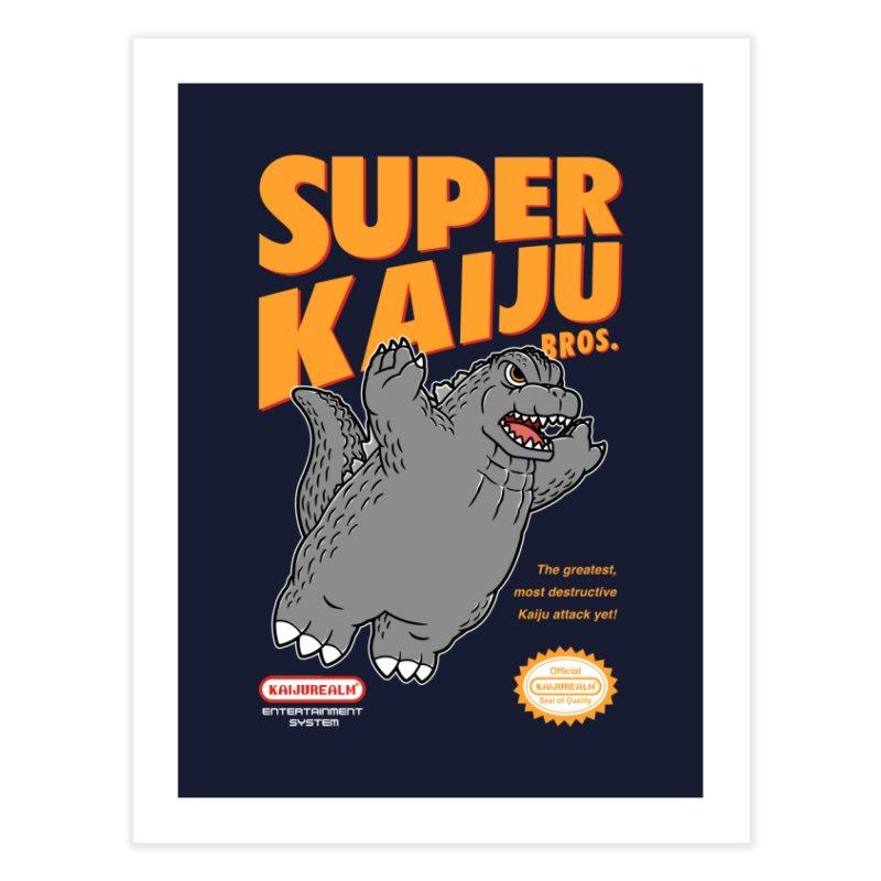 Super Kaiju Bros. Home Fine Art Print by Pigboom's Artist Shop