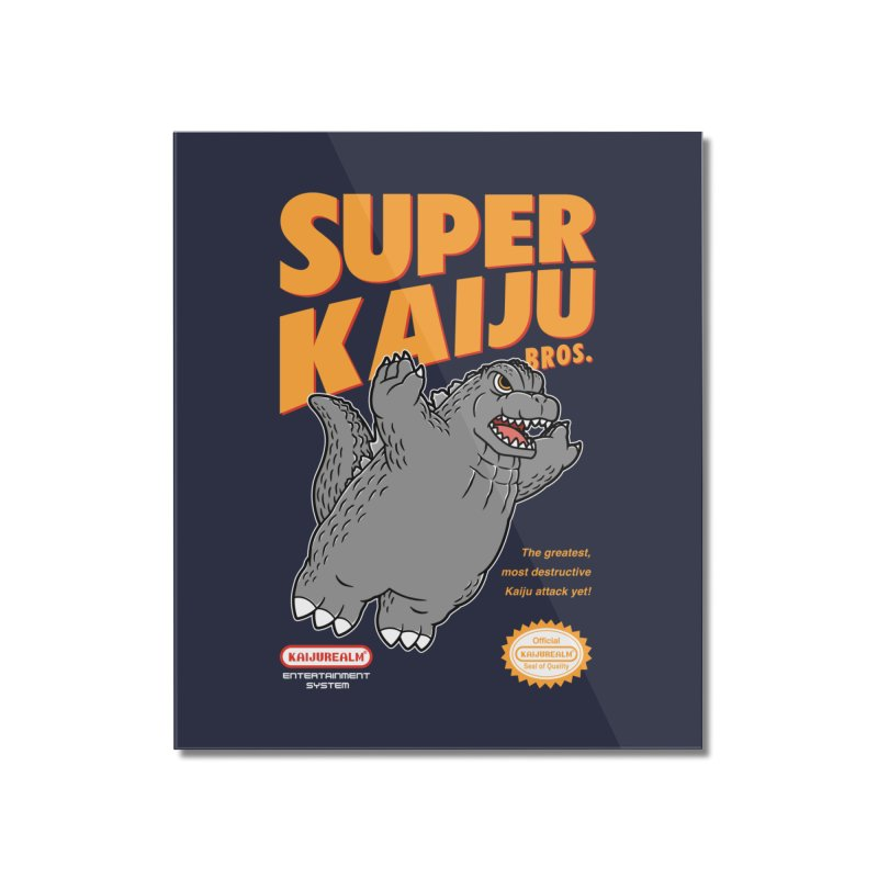 Super Kaiju Bros. Home Mounted Acrylic Print by Pigboom's Artist Shop