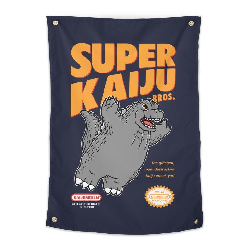 Super Kaiju Bros. Home Tapestry by Pigboom's Artist Shop